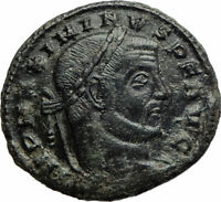 Maximinus II Daia enemy of Constantine I 311AD Ancient Roman Coin Jupiter i76060