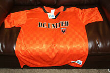 NWT Vintage DC United MLS football club Majestic Orange Jersey Shirt Mens Large