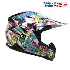 Motorcycle Youth Helmet Off Road MX ATV Dirt Bike Motocross UTV - Large
