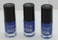 3PK Maybelline Color Show Nail Polish Blue Bombshell 335 .23 oz