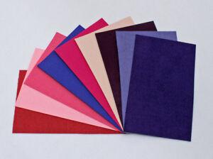 "Ultrasuede® ST (Soft) Assorted 6 Piece Pink & Purple 3""x 5"" pieces (U008.04)"
