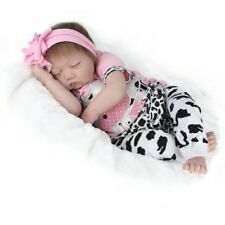 "Real Life 22"" Reborn Dolls Baby Girl Newborn Realistic soft Silicone Vinyl Toys"