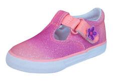 Chaussures roses moyens à attache auto-agrippant pour fille de 2 à 16 ans