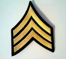 U.S. Army E-5 Sergeant Gold/Green Pair Rank Patch Sew On