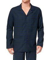 Club Room Mens Sleepwear Blue Green Medium M Plaid Flannel Pajama Top $35- 295