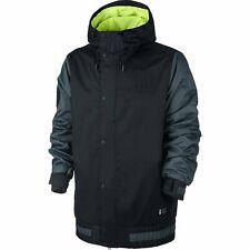 Nike SB Hazed Mens Snowboard Ski Jacket Winter Snow Coat Black Grey 10K