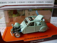 TIN3T Voiture 1/43 Collection TINTIN 2 base orange CITROËN 2CV accidentée