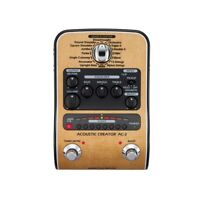 Zoom AC-2 Acoustic Creator Enhanced Direct Box 3-Band EQ Guitar Effects Pedal
