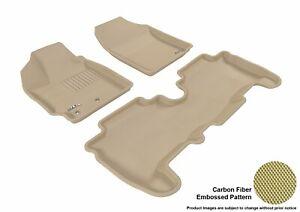For 08-12 Scion xD Kagu Tan All Weather Floor Mat Set