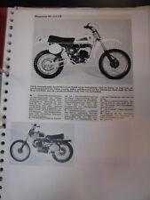 Clipping / artikel / photos Husqvarna 125 / 250  (jaren 70 / 80 GER/NED)