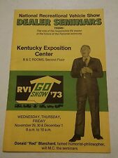000 Vintage 1973 RVI GO Show Brochure Kentuckey Expo Center Campers RVs