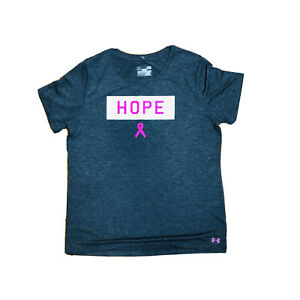UNDER ARMOUR Breast Cancer Women's HOPE Power in Pink T-shirt Gray Size L