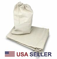 Variety of Natural Cotton Muslin Drawstring Bags For Craft, Gift, Soap, Herbs