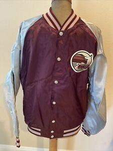 RARE Vintage Jacksonville Bulls Satin Jacket Coat Logo USFL Football Swingster L