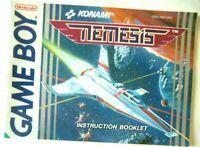 65927 Instruction Booklet - Nemesis - Nintendo Game Boy (1991) DMG-NM-UKV