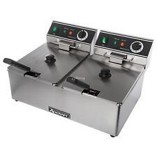 Adcraft DF-6L/2 Double Countertop Electric Deep Fryer