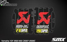 YZF250 graphics 450 2007 2009 radiator louver decals stickers louvre 2008 Yz450f