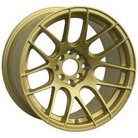 XXR 530 15X8 WHEELS 4X100/114.3 +20 GOLD RIM FITS CABRIO DEL SO XB E30 325 CIVIC