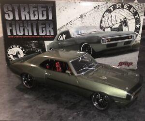 GMP G1800317 Chevrolet Camaro 1968 Street Fighter Silver/Green - 1:18 Scale