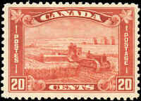 1930 Mint H Canada F+ Scott #175 20c King George V Arch/Leaf Stamp