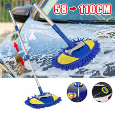 Car Wash Brush Cleaning Mop Tools Telescoping Long Handle Chenille Broom Brushes