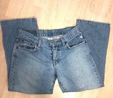 Lucky Brand Light Blue Distressed Easy Crop Rider Jeans Dungarees Womens Sz 2/26