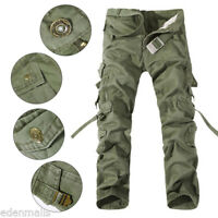 Men's Stylish Casual Camouflage Cargo Pants Army Fatigue Tactical Combat Pants