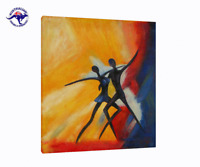 OIL PAINTING ABSTRACT DANCE CANVAS WALL ART MODERN DECOR HAND PAINTED
