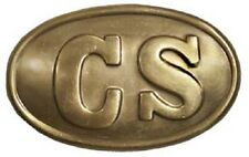 "3"" CS OVAL BELT BUCKLE CONFEDERATE CIVIL WAR REPRODUCTION NEW"