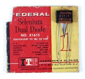 ITT Federal Selenium Dual Diode No. K1615 (IRC D4) on retail card