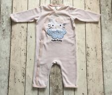 H&M Hello Kitty Baby Girls Velour Babygrow/ Playsuit 4-6 Months