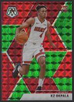 2019-20 Panini Mosaic Choice GREEN and RED #210 KZ Okpala RC Rookie Miami Heat