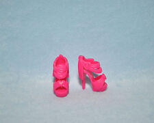 FANCY Pink Open Toe Stiletto Platform Sling Back High Heels Genuine BARBIE Shoes