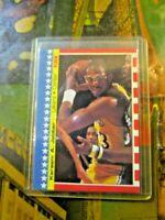 1987-88 Fleer Sticker #8 Kareem Abdul-Jabbar Los Angeles Lakers HOF ~