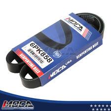MOCA 6PK990 4PK1010 Serpentine Belt Professional V-Ribbed Belt Fits 2001-2005 Honda Civic /& 2001-2005 Acura EL 1.7L l4 GAS SOHC