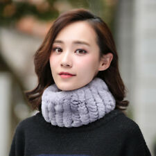 100%Real Hand Knitted Rabbit Fur Hairnet Snood Fur Cowl soft elastic belt Scarf