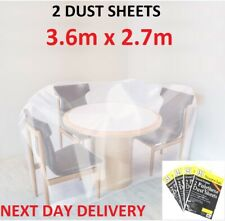 HEAVY DUTY POLYTHENE PROFESSIONAL DECORATING LARGE DUST SHEETS