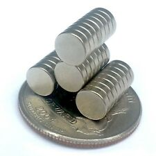 "NEW Neodymium Magnets 1/4"" x 1/16"" Pack of 30 
