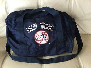 New York Yankees Baseball Athletic Nylon Duffle Gym Bag 1980's