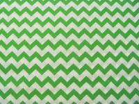 Chevron Zigzag Stripes Bright Green Blender Backing on Cotton Fabric By The Yard