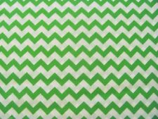 Chevron Zigzag stripes Bright Green JoAnn Exclusive on Cotton Fabric By The Yard