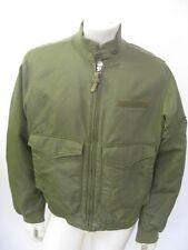 POLO JEANS Green Nylon Military WEP Bomber Jacket Size LARGE