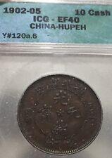 China.  10 Cash Hupeh.  Y#120a.6.  ICG EF40.  1902-05.