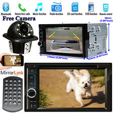 2DIN Car Stereo Radio MP3 CD DVD Bluetooth Player AUX Mirror Link For GPS+Camera