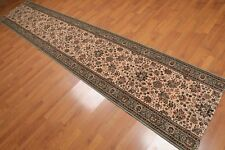 2'8' x 12' Nourison Oriental 100% wool Open End Remnant Rug Peach