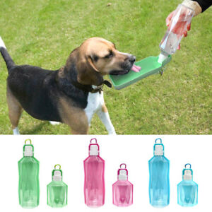 Dog Travel Water Bottle for Walking Portable Drink Bowl Collapsible Dispenser