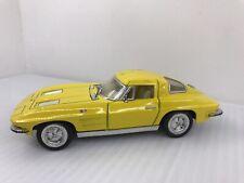 """KINSMART YELLOW 1963 Corvette Stingray-5"""" 1/36 Scale Die Cast - Pull-back action"""