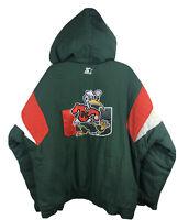 Miami Hurricanes Vintage Starter Puffer Jacket Sebastian Ibis Pipe - Men's Large