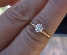 .35ct H/Si2 Transitional Diamond solitaire engagement ring 14k YG