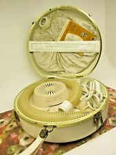 VTG General Electric Bonnet Portable Strap Deluxe Hair Dryer Storage Travel Case